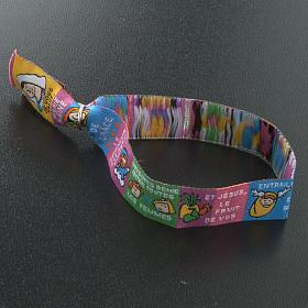 Child Prayer bracelet in fabric, Hail Mary FRA s6