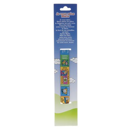 Child Prayer bracelet in fabric, Hail Mary FRA 2