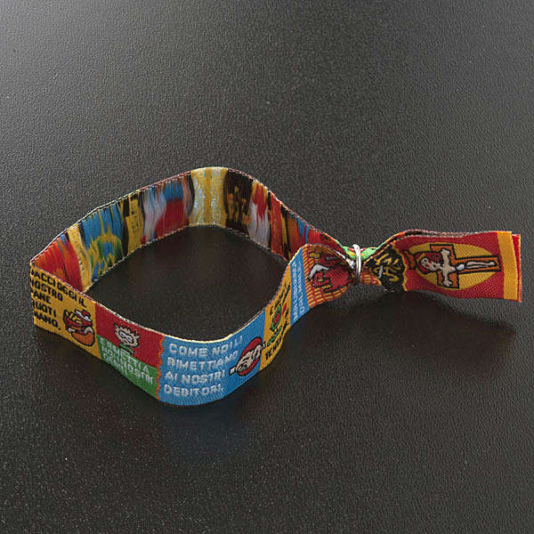 Prayer bracelet in fabric, Our Father ITA 4
