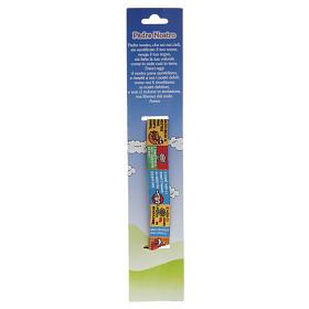 Bracelet religieux en tissu avec marque page Notre Père ITA s2