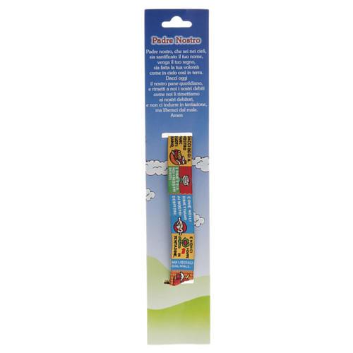 Bracelet religieux en tissu avec marque page Notre Père ITA 2