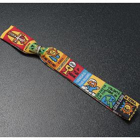 Children Prayer bracelet in fabric, Our Father ITA s3