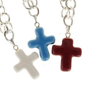 Brazalete de metal y cruz en cerámica s1