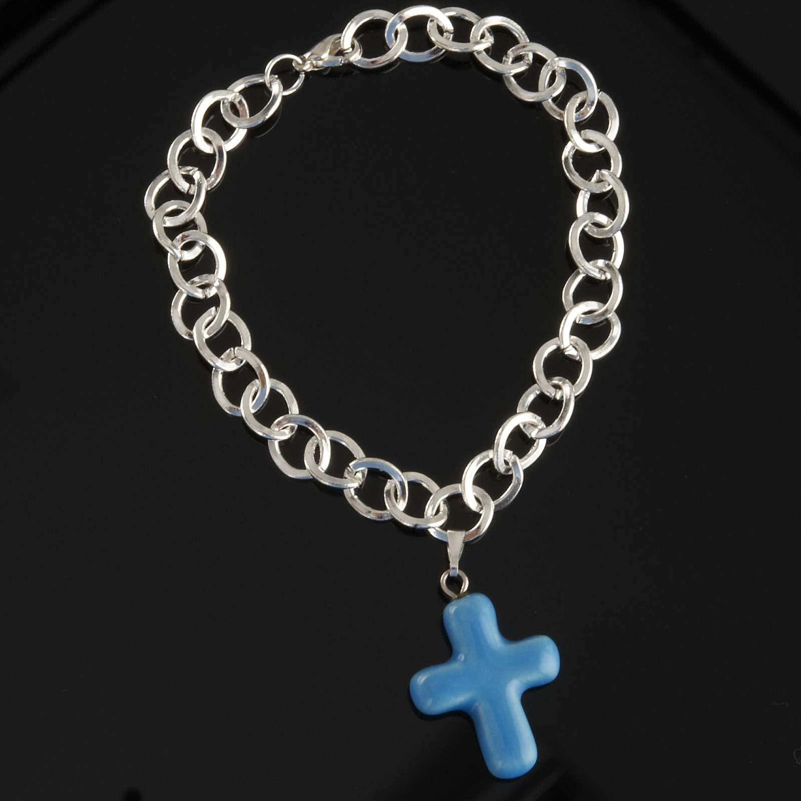 Bracelet avec croix en céramique 4