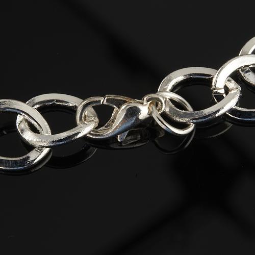 Bracelet in metal with ceramic cross 5