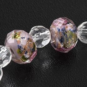 Elastic bracelet with pink crystal, 7mm s5