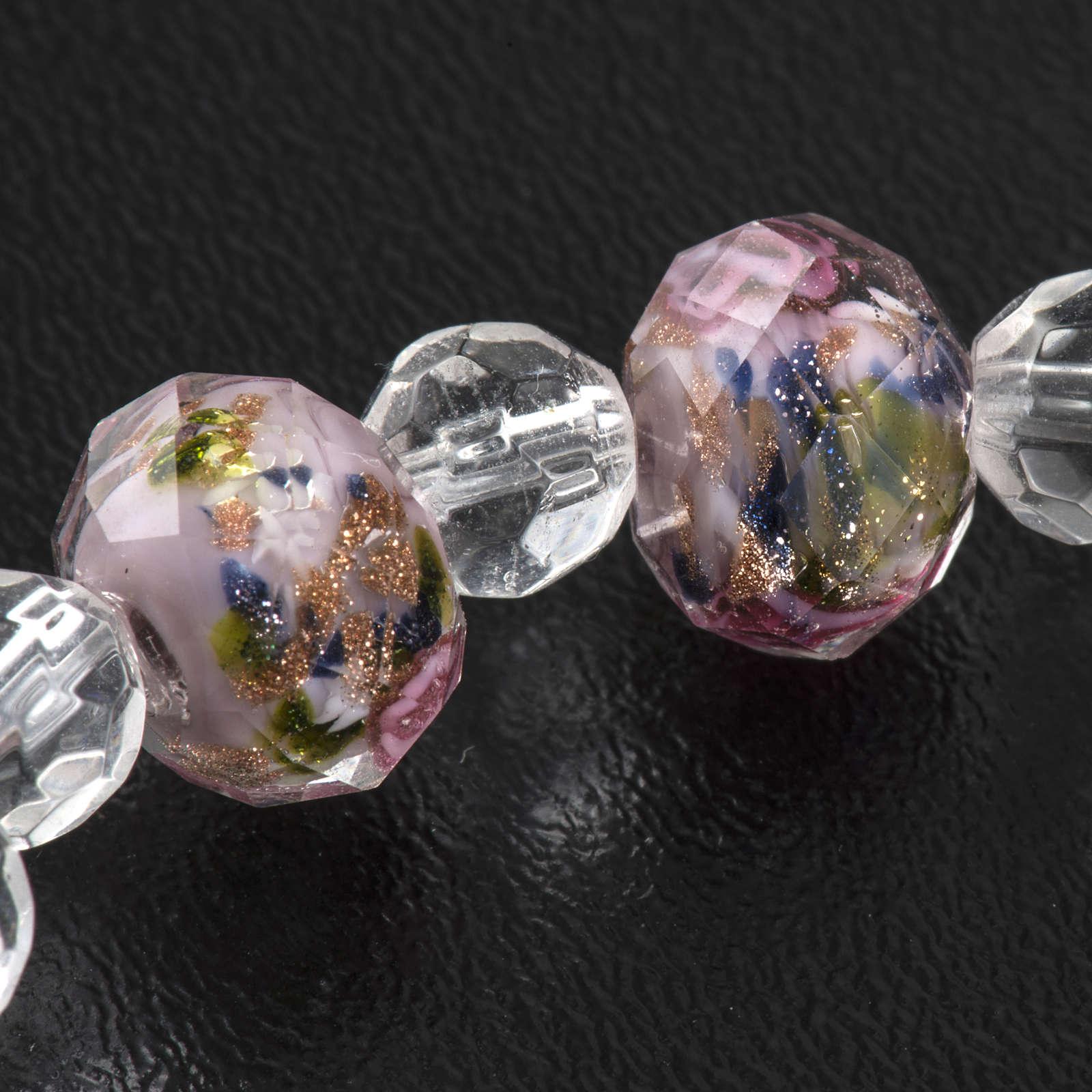 Pulsera elástica de cristal rosa 7mm 4