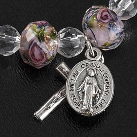 Bracelet élastique cristal 7mm rose s4
