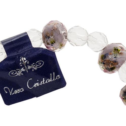 Bracelet élastique cristal 7mm rose 2