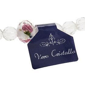 Bracciale elastico cristallo 7mm bianco rosa s2