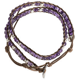 Prayer bracelet in fabric, Our Father ENG s7
