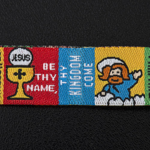Prayer bracelet in fabric, Our Father ENG 3