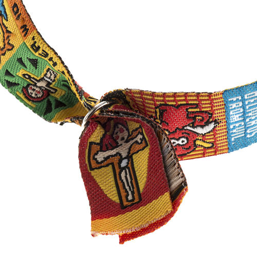 Prayer bracelet in fabric, Our Father ENG 5
