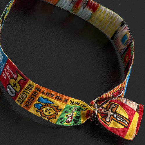 Prayer bracelet in fabric, Our Father ENG 6