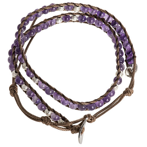 Prayer bracelet in fabric, Our Father ENG 7