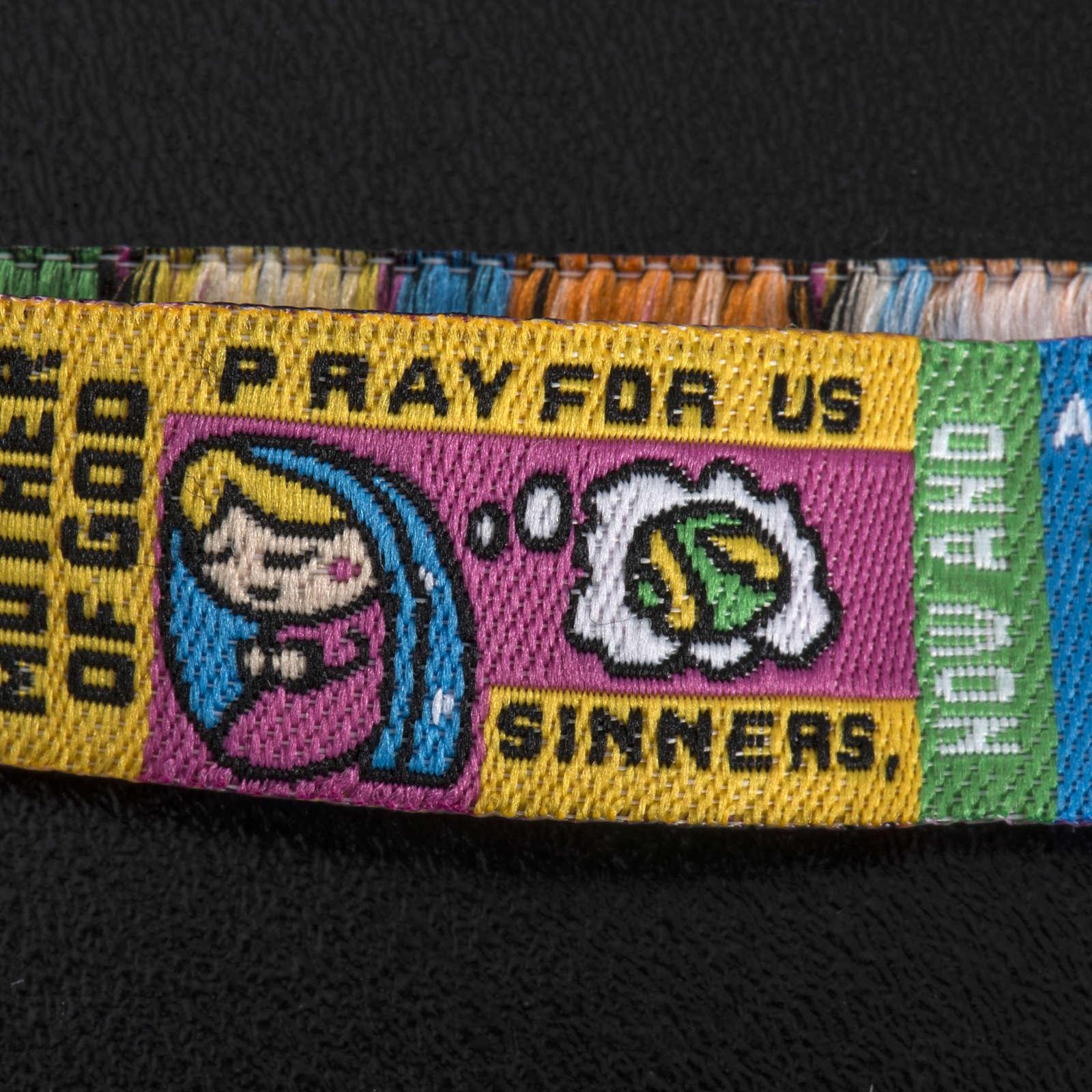 Prayer bracelet in fabric, Hail Mary ENG 4