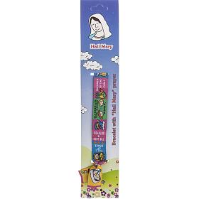 Prayer bracelet in fabric, Hail Mary ENG s1