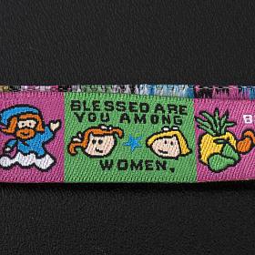 Prayer bracelet in fabric, Hail Mary ENG s4
