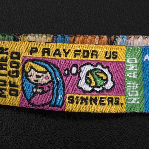 Prayer bracelet in fabric, Hail Mary ENG 3