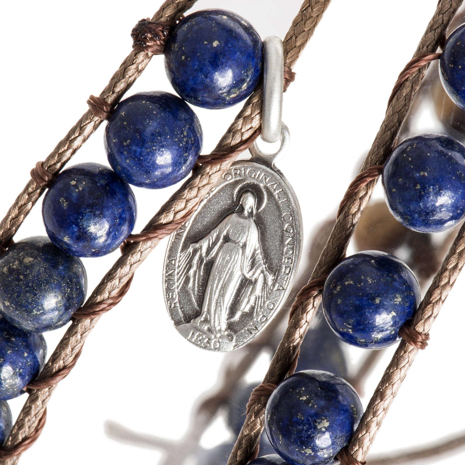 Bracelet religieux lapis-lazuli 6mm 4