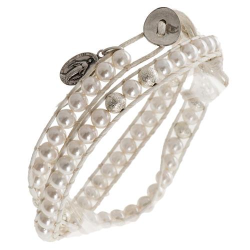 Bracelet chapelet en nacre 6mm 1