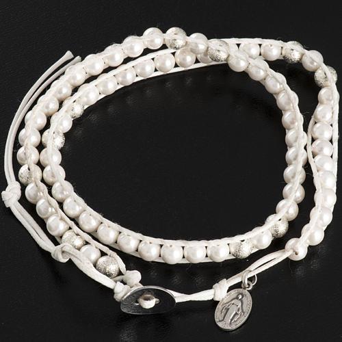 Bracelet chapelet en nacre 6mm 3