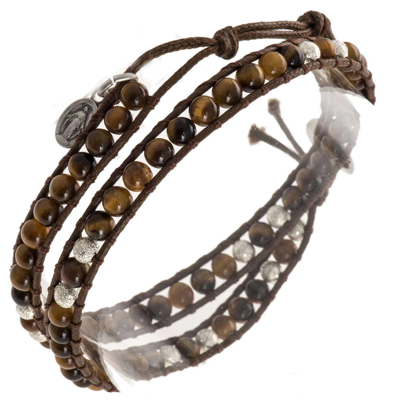 Bracelet chapelet oeil de tigre 4mm 4
