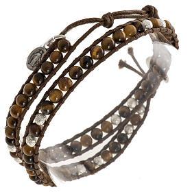 Bracelet chapelet oeil de tigre 4mm s1