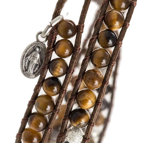 Bracelet chapelet oeil de tigre 4mm 2