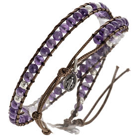 Various bracelets: Amethyst bracelet 4mm