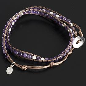 Amethyst bracelet 4mm s4
