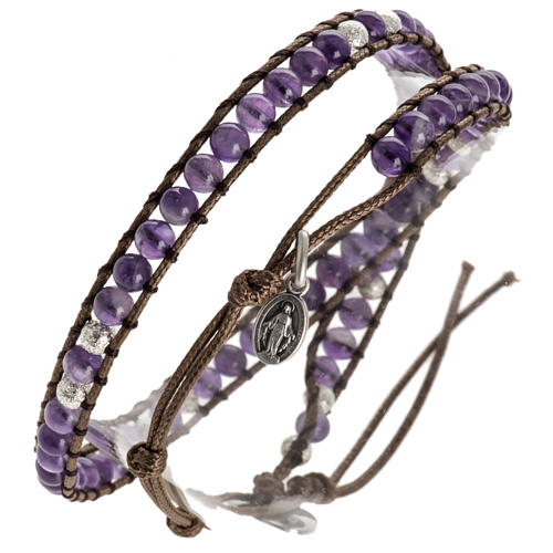 Amethyst bracelet 4mm 1