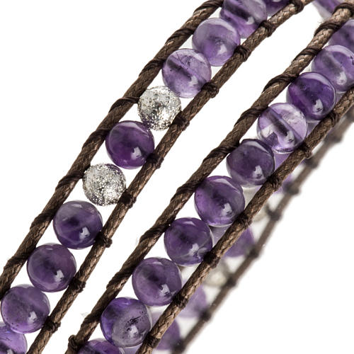 Amethyst bracelet 4mm 3