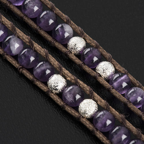 Amethyst bracelet 4mm 6