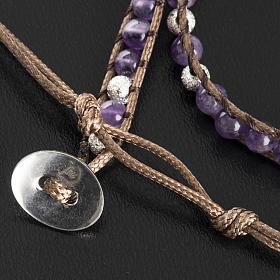 Amethyst bracelet 4mm s5