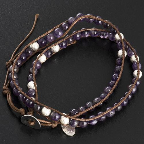 Amethyst bracelet 6mm 3