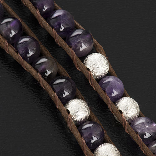 Amethyst bracelet 6mm 5