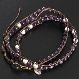 Amethyst bracelet 6mm s3