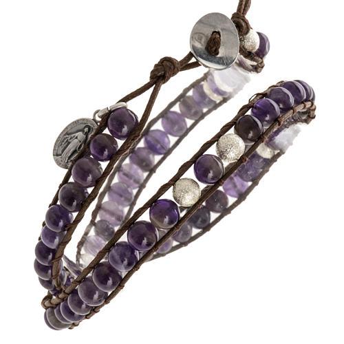 Amethyst bracelet 6mm 1