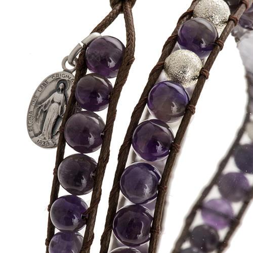 Amethyst bracelet 6mm 2