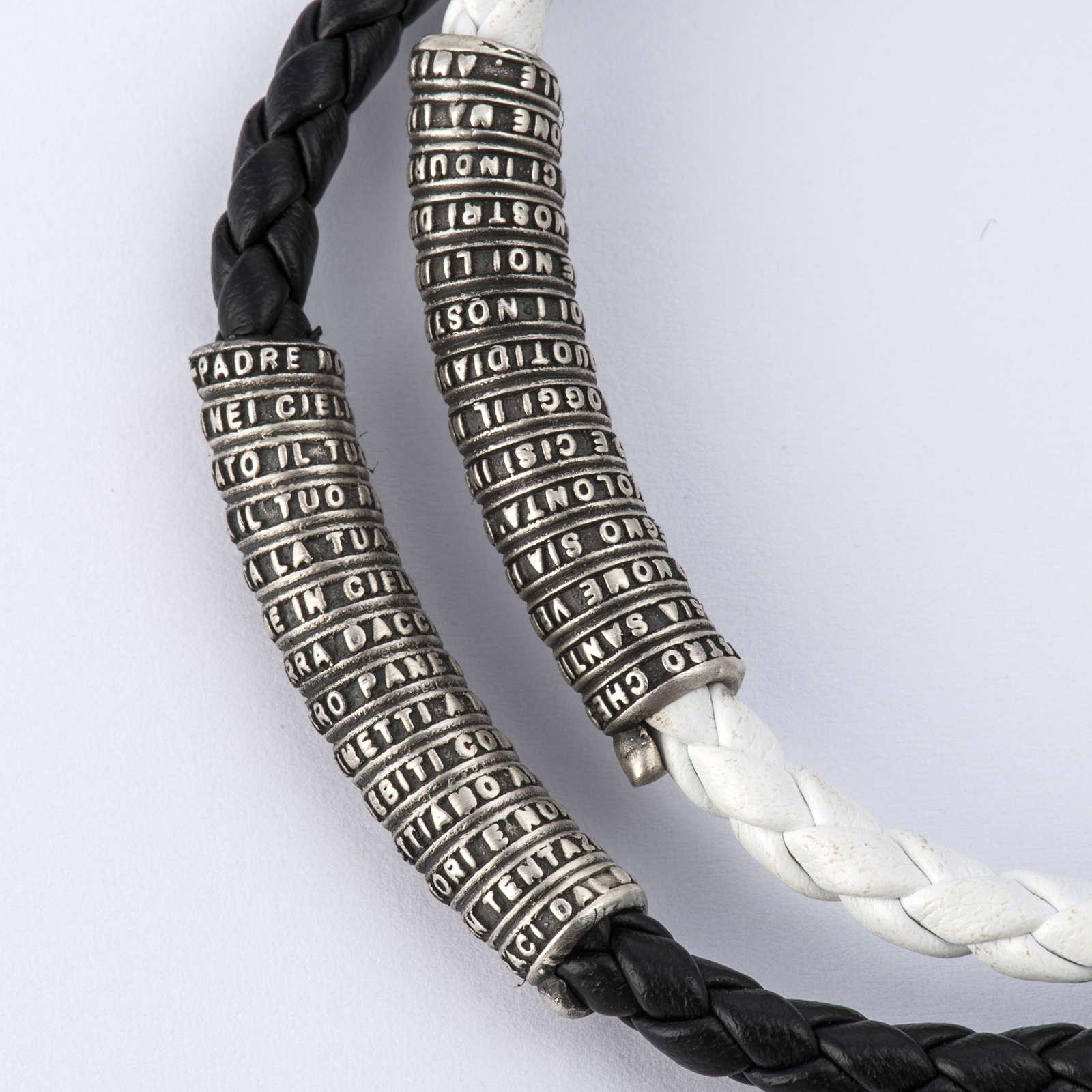 Pulsera Milagrosa cuerda granos de madera y cristal 4