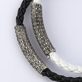 Pulsera Milagrosa cuerda granos de madera y cristal s4