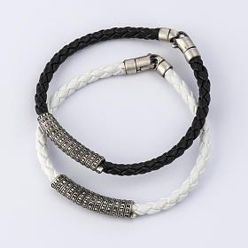 Bracelet Miraculeuse corde perles cristal et bois s1
