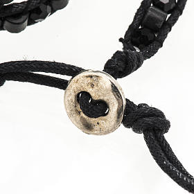 Bracelet Miraculeuse corde perles cristal et bois s6