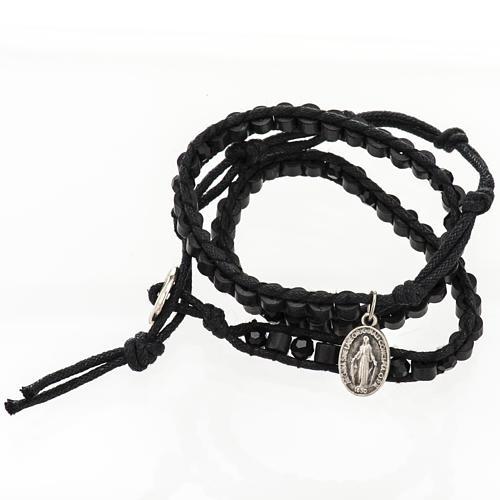 Bracelet Miraculeuse corde perles cristal et bois 2