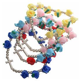 Various bracelets: Elastic bracelet with roses