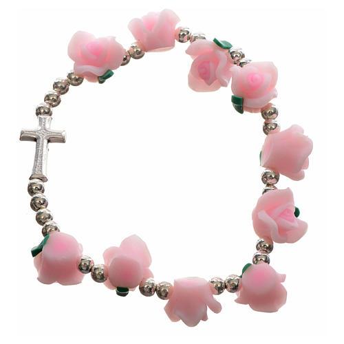 Elastic bracelet with roses 4