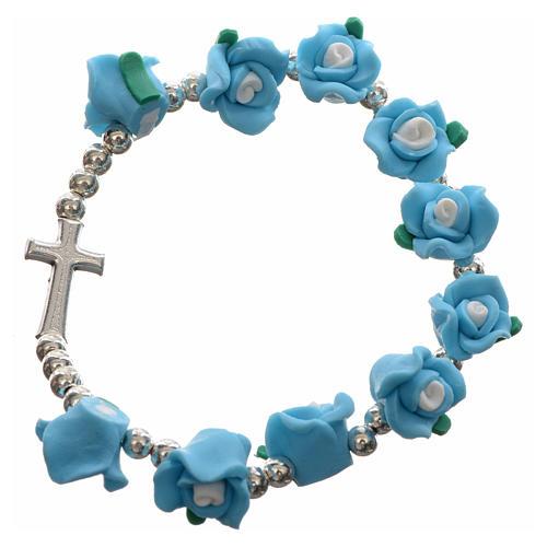 Elastic bracelet with roses 5