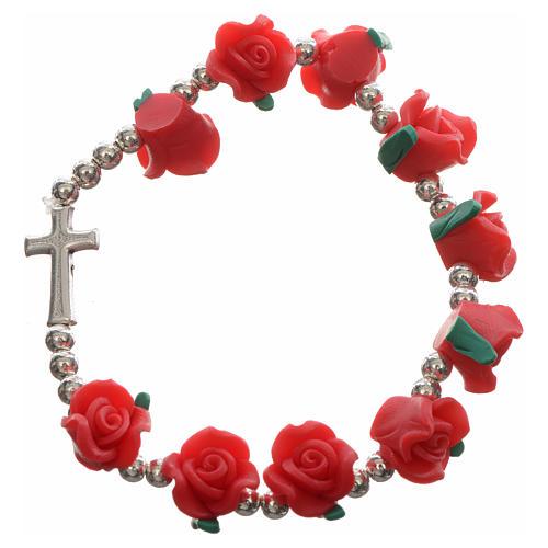 Elastic bracelet with roses 6