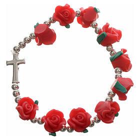 Bracciale elastico con rose s6